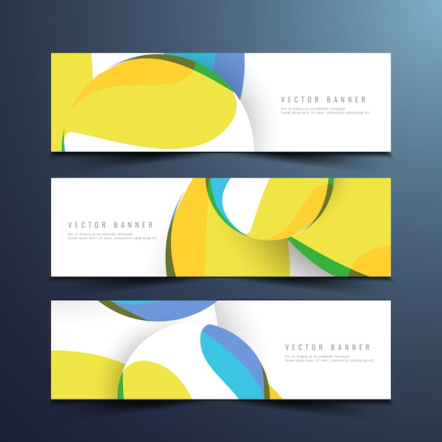 Abstract stylish modern banners design Vector Free Download