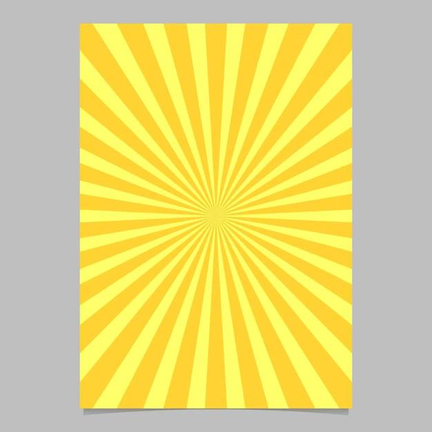 Abstract sunburst brochure design template Vector Free Download