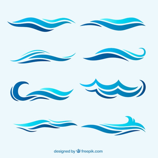 Waves Vectors, Photos and PSD files Free Download