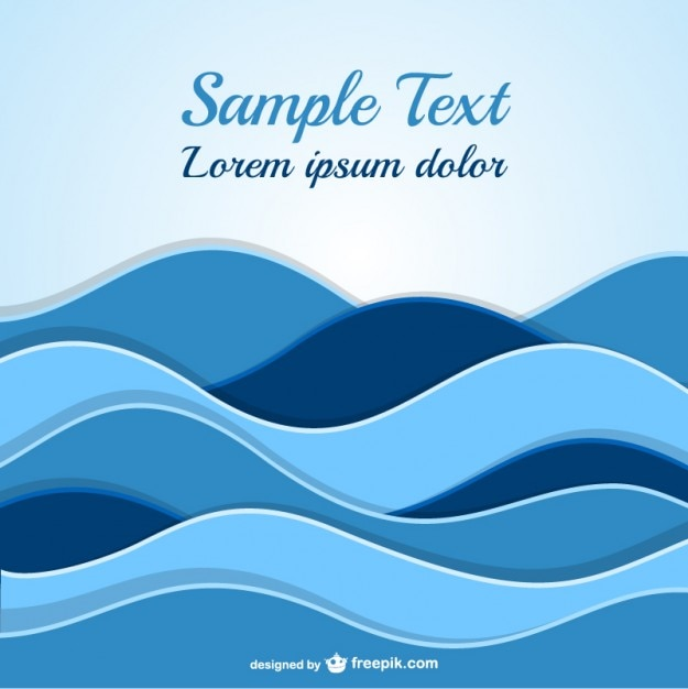 Abstract waves template Vector Free Download
