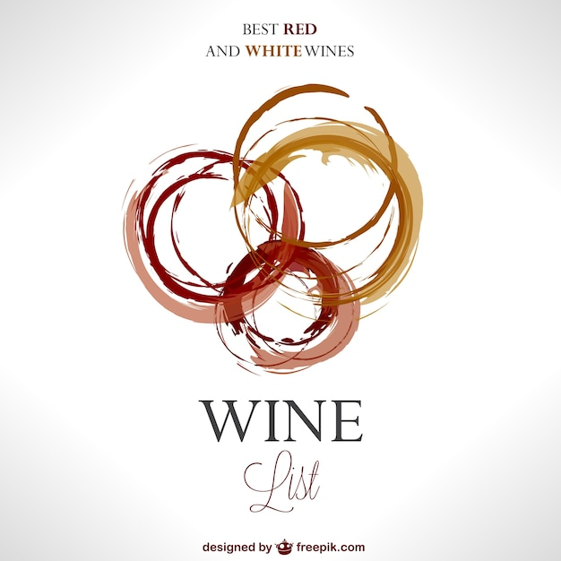 Abstract wine logo Vector Free Download - free wine list template