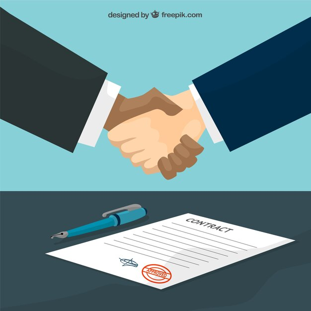 Agreement handshake Vector Free Download - agreement