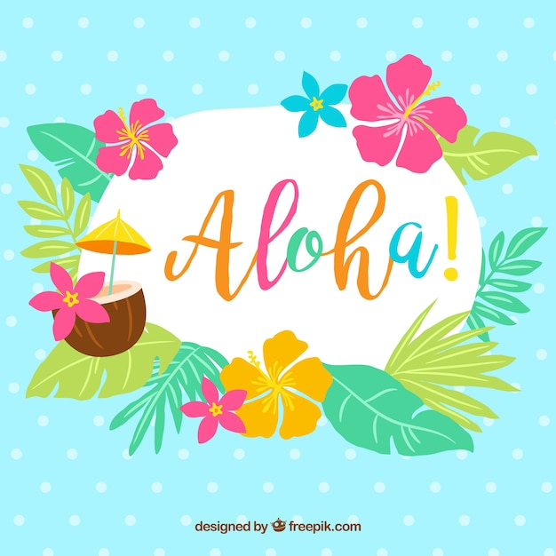 Cute Baby Girl Hd Wallpaper Download Aloha Background With Leaves And Flowers Vector Free