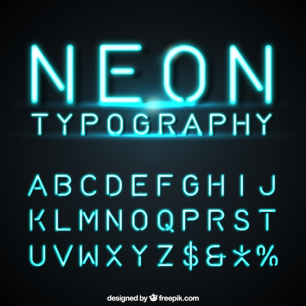 Neon Font Vectors, Photos and PSD files Free Download