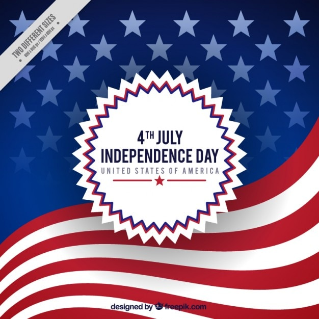 American flag background of independence day Vector Free Download