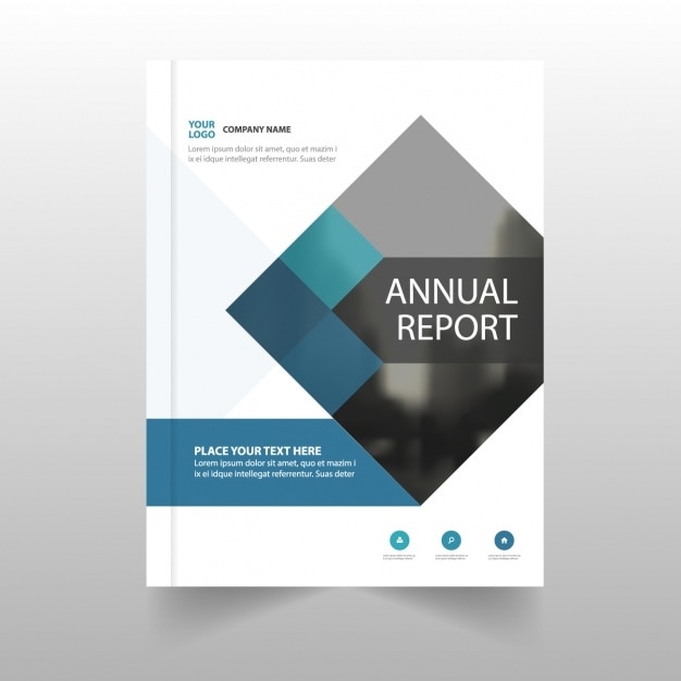 Annual report template for business Vector Free Download
