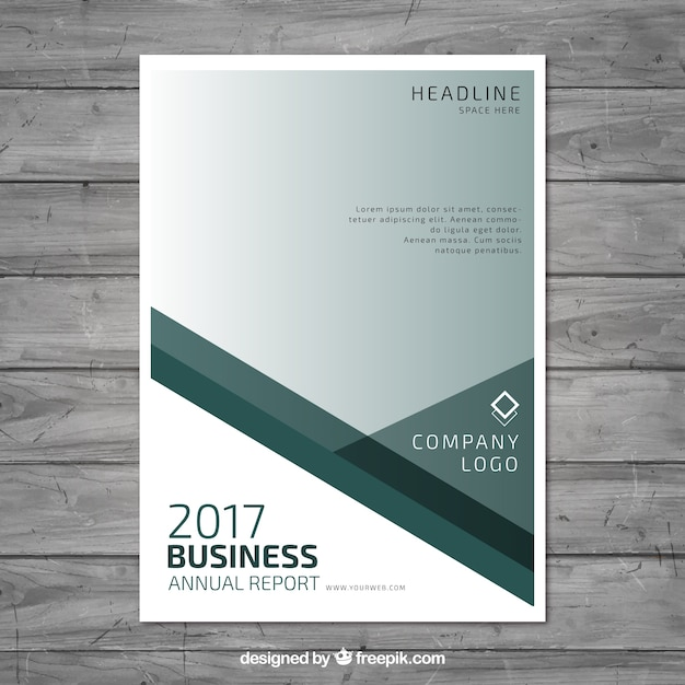 Annual report template design Vector Free Download - annual report template design