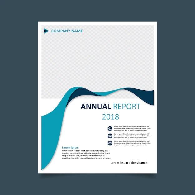 Annual report template wavy design Vector Free Download - free annual report templates