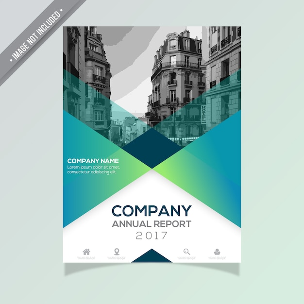 Annual report template Vector Free Download - business reporting templates