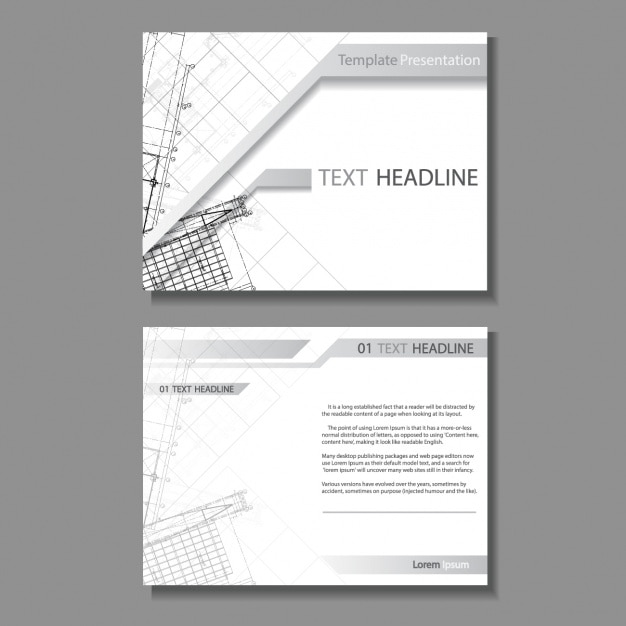 Architecture brochure design Vector Free Download