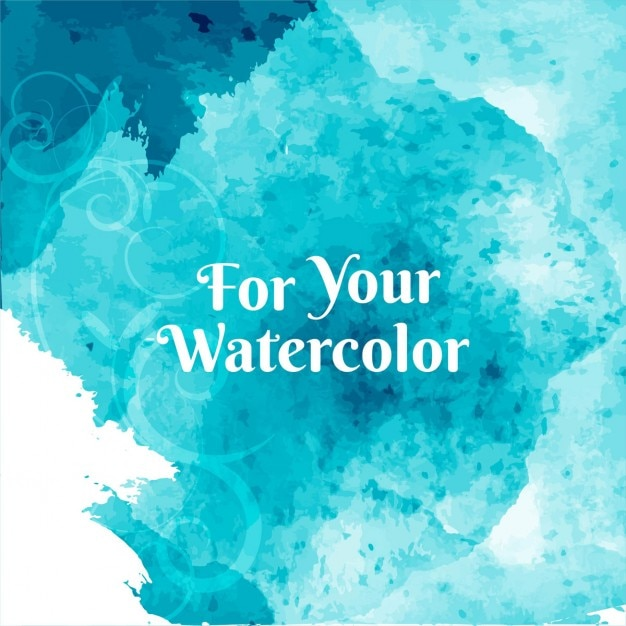 Artistic background with watercolor texture, blue color Vector
