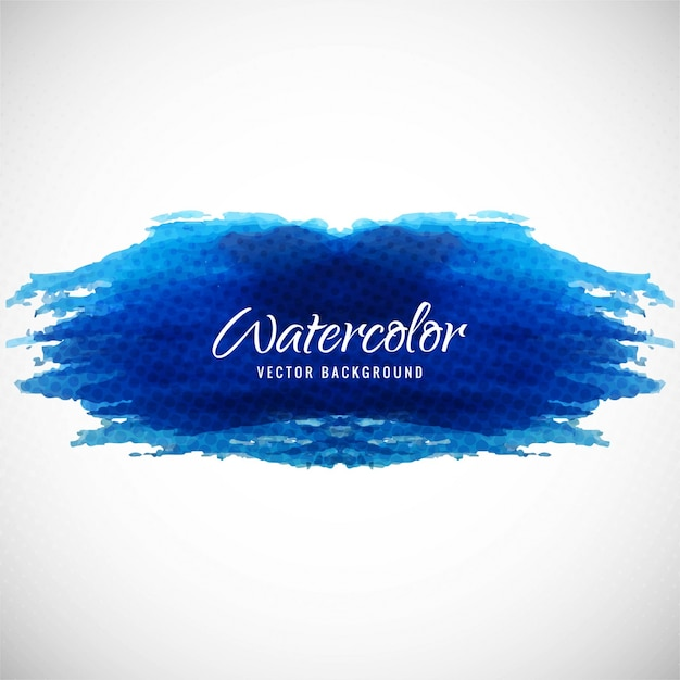 Artistic background with watercolor texture, dark blue color Vector