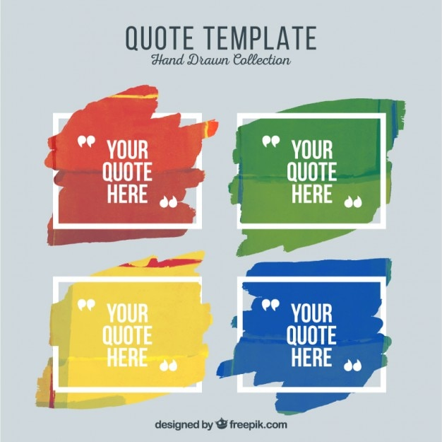 Artistic quote templates of paint Vector Free Download - quotation design template