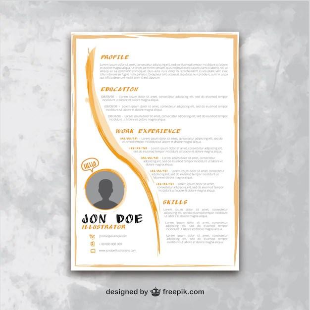 Artistic resume template Vector Premium Download - artistic resume