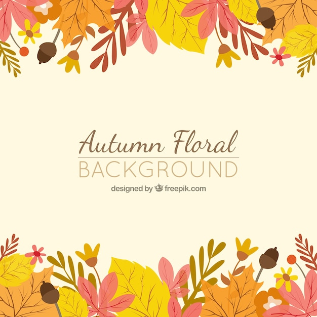 Autumn Leaves Falling Hd Wallpaper Autumn Floral Background Vector Premium Download