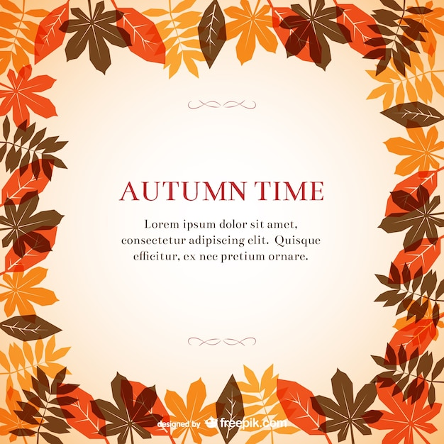 Maple Leaf Wallpaper For Fall Season Autumn Frame Template Vector Free Download