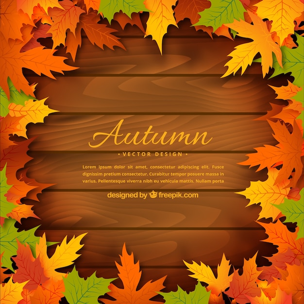Hd Wallpaper Texture Fall Harvest Autumn Leaves On Wooden Background Vector Free Download