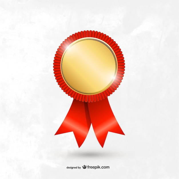 Award medal template Vector Free Download