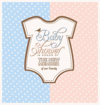 Baby shower invitation design Vector | Free Download