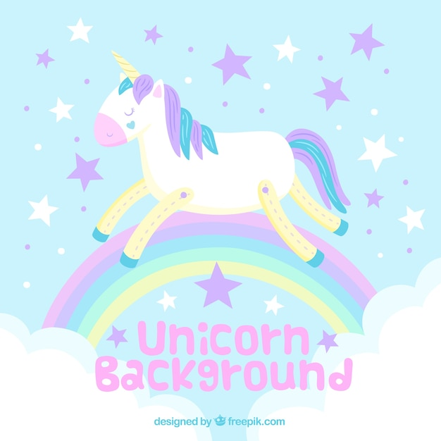 Fruit Quotes Wallpaper Background Of Unicorn And Rainbow In Pastel Colors Vector