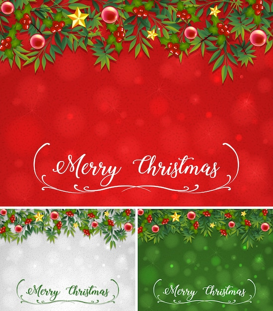 Background template with christmas theme Vector Free Download - christmas theme background
