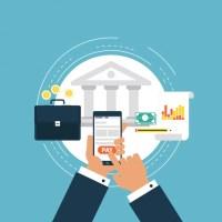 Banking background design Vector | Free Download
