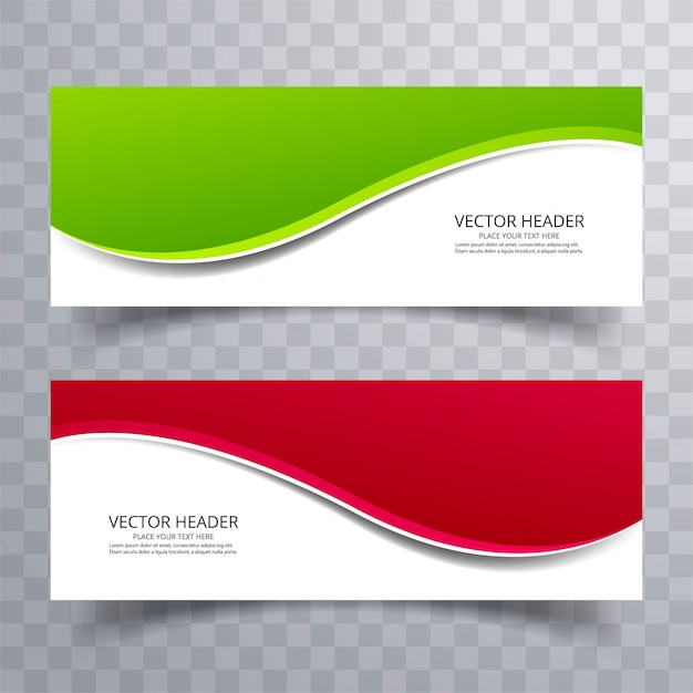 Banner background modern template colorful wave design Vector Free
