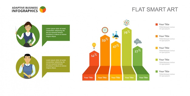 Bar Chart Slide Template Vector Free Download - Bar Chart Template