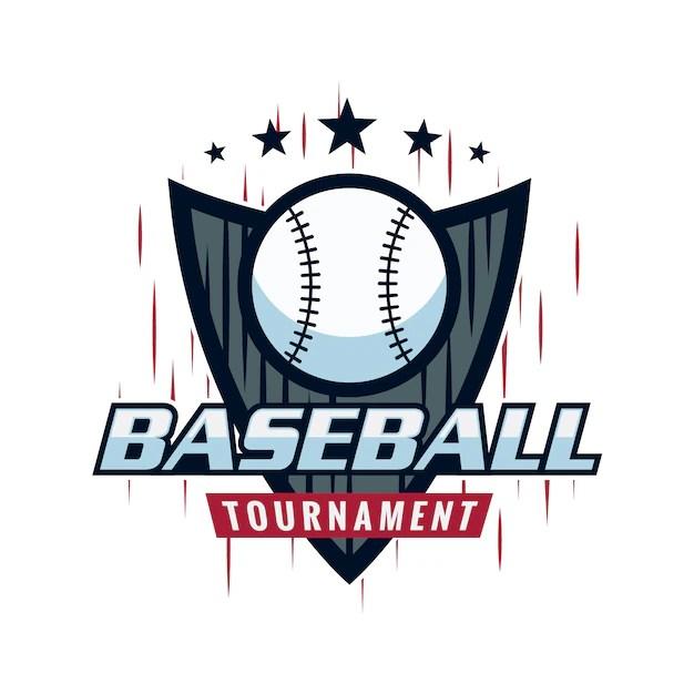 Baseball logo design Vector Premium Download