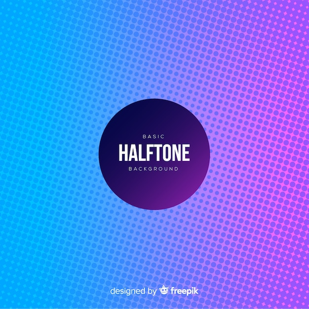 Basic halftone background Vector Free Download