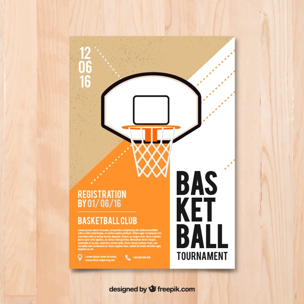 Basketball flyer in flat design Vector Free Download - basketball flyer example