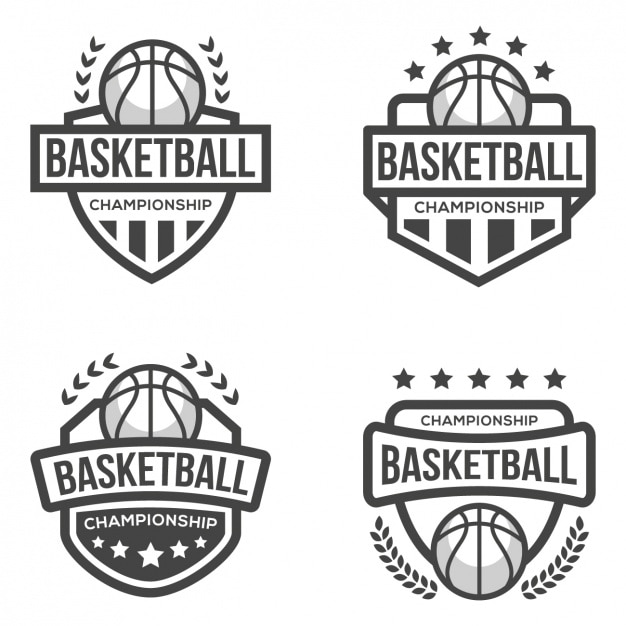 Basketball logo template Vector Free Download - black and white basketball template