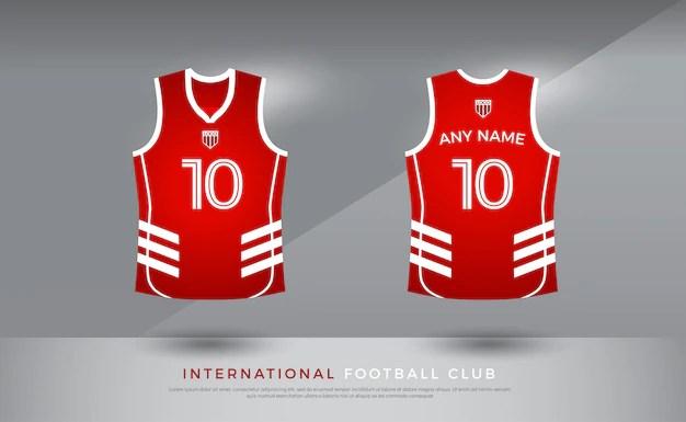 Basketball t-shirt uniform basketball jersey template red and
