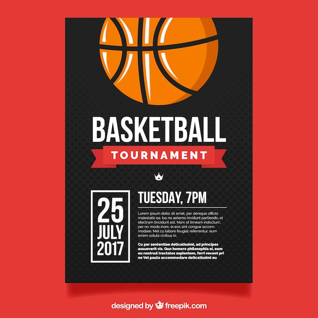 Basketball tournament flyer Vector Free Download - basketball flyer example
