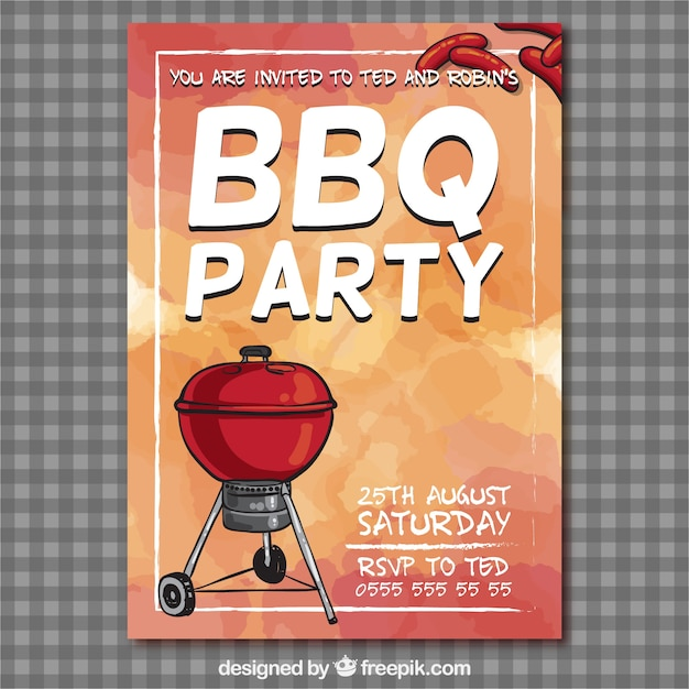 Bbq party flyer Vector Free Download - bbq flyer