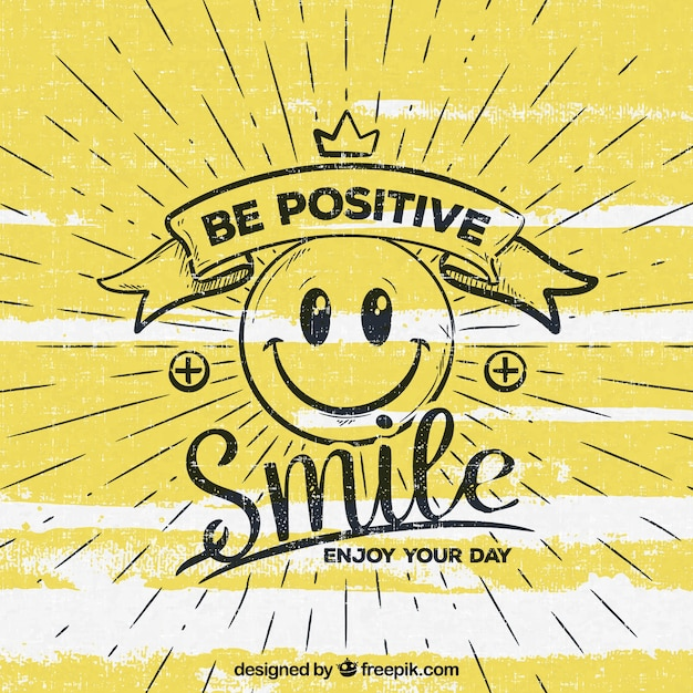 Happy Quotes Iphone Wallpaper Be Positive Background Vector Free Download