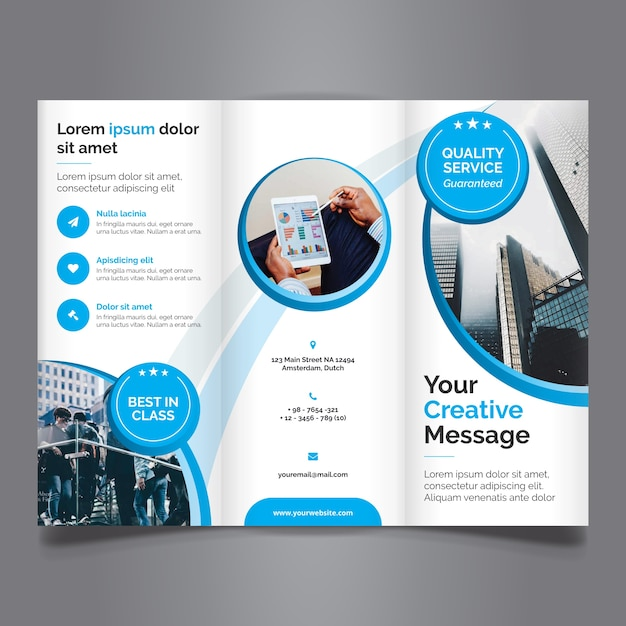Brochure Vectors, Photos and PSD files Free Download - tri fold brochure