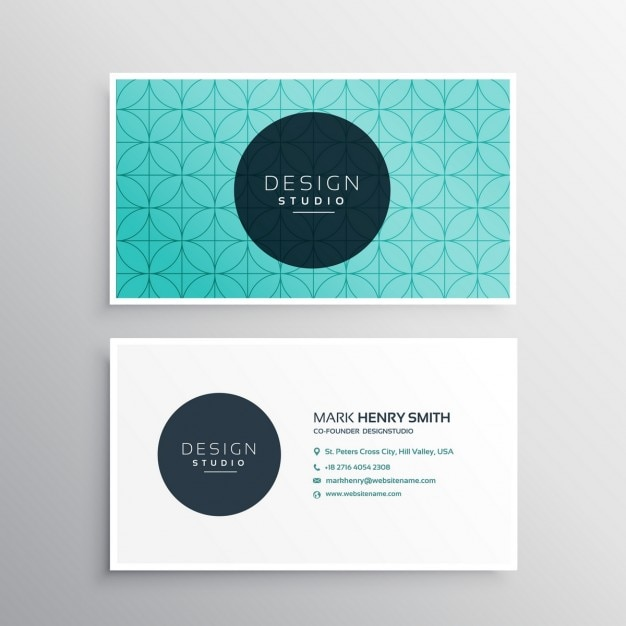 Beautiful business card template Vector Free Download