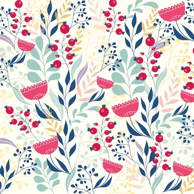 Cute Country Wallpaper Beautiful Modern Floral Pattern Vector Free Download