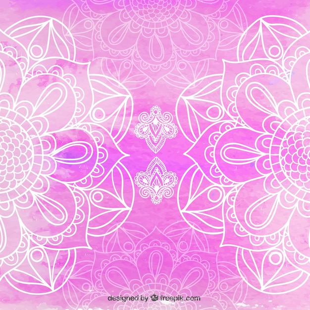 Cute Henna Wallpapers Beautiful Pink Mandala Background Vector Free Download
