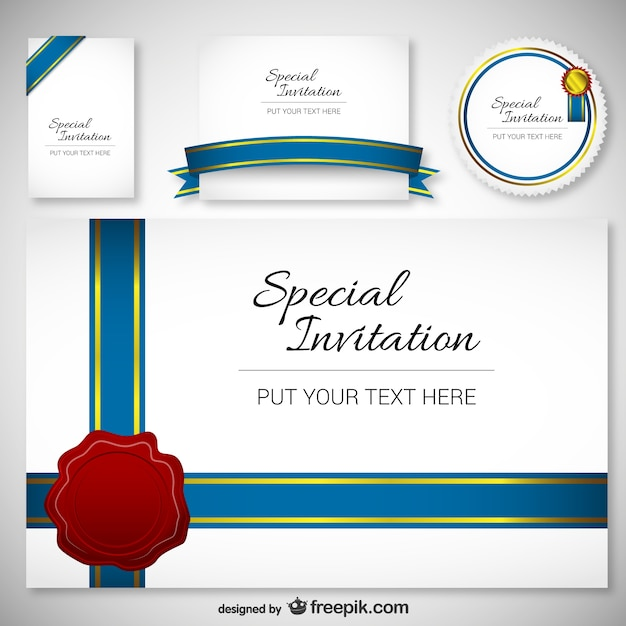 Best Design Invitation Card Template Vector Free Download