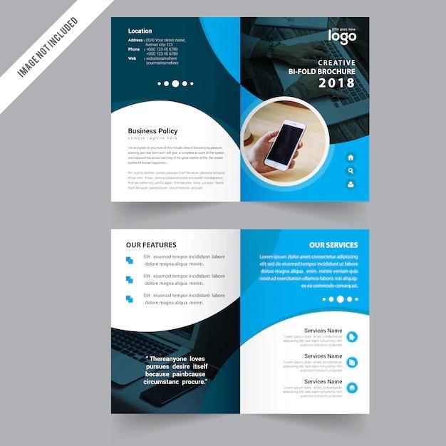 Bi fold Brochure Design Template Vector Premium Download - two fold brochure