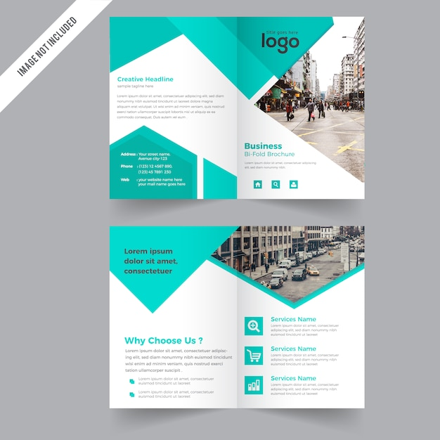 Bi fold Brochure Design Template Vector Premium Download