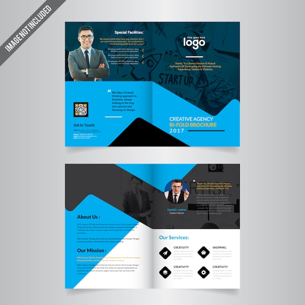 Bi-fold Brochure Template Vector Premium Download