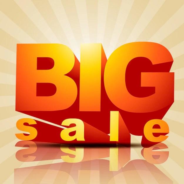 Big sale poster design Vector Free Download