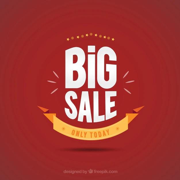Big sale poster Vector Free Download - sale poster design