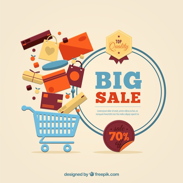 Big sale template Vector Free Download - for sale template