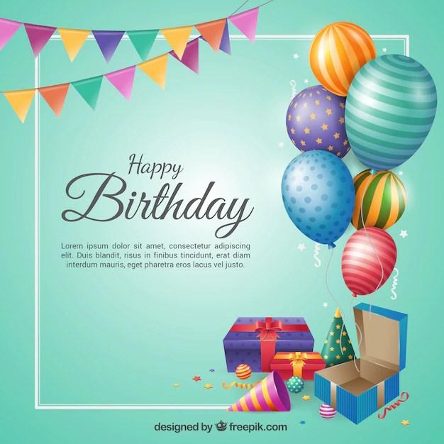 Birthday background in flat design Vector Free Download - birthday backround