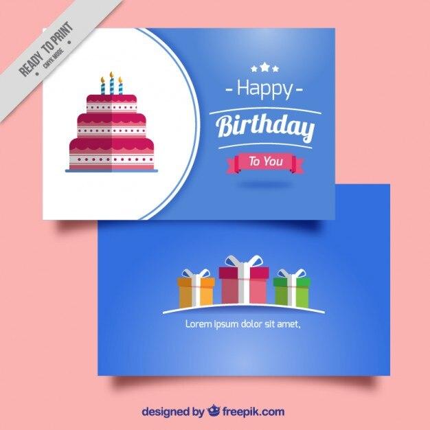 Download Vector - Flat design birthday party background - Vectorpicker