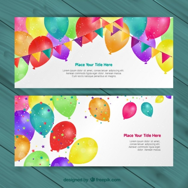 Birthday invitations Vector Free Download